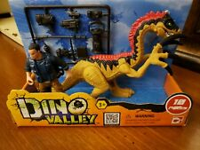 Chap Mei Dino Valley Danger PlaySet Action Figure & Dinosaur 10 pieces