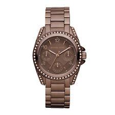 MICHAEL KORS Uhr MK5614 BLAIR MINI Damen Edelstahl Braun Armbanduhr Datum NEU