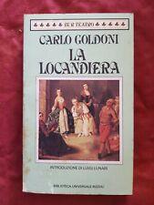 Libro Carlo Goldoni La Locandiera Rizzoli #TO1