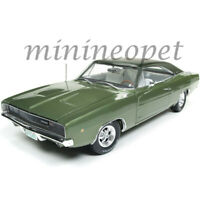 AUTOWORLD AMM1140 CLASS OF 68 1968 DODGE CHARGER R/T 1/18 DIECAST MODEL GREEN