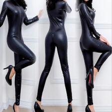Women Lingerie Leather Wet Cosplay CATSUIT CLUBWEAR Bodysuit Jumpsuit PVC  AU