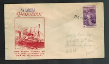 1930s Palestine Cover to USA Posted at Sea SS Laura paqueboat