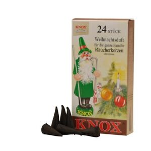 KNOX German Incense for Smoker Rauchermann Raucherkerzen Christmas Scent 2 BOXES
