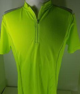 Women's Canari Essential Quarter-Zip Cycling Jersey Killer Yellow NWT