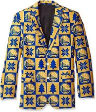 Golden State Warriors Super Fan Sport Coat Jacket Size 42 S Ugly Christmas   S12