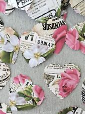 100 FRENCH VINTAGE STYLE NEWSPAPER ROSE PAPER WEDDING TABLE CONFETTI DECORATIONS