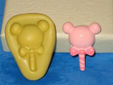 Mickey Minnie Mouse Lollipop 2D Push Mold Food Silicone Mould A331 Cupcake Deco