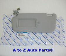 NEW 2006-2011 Hyundai Accent DRIVER SIDE Grey SUN VISOR, OEM Hyundai