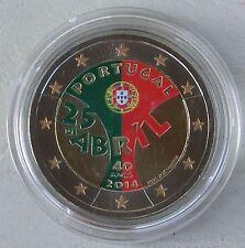2 Euro Portugal 2014 Nelkenrevolution in Farbe unz