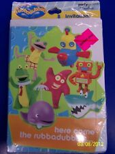 RARE Rubbadubbers PBS Nickelodeon Kids Birthday Party Invitations w/Envelopes