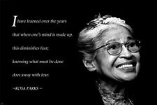 civil rights ROSA PARKS Motivational Poster 24X36 DO AWAY WITH FEAR QUOTE