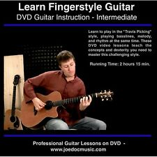 Learn How to Play Fingerstyle Guitar DVD Fingerpicking Lessons 140min Video