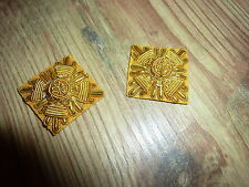 RANK PIPS EMBROIDERED GOLD PAIR BRITISH ARMY ISSUE AMMO AND CO