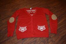 C16- Ceres Red Tiger Cardigan Sweater Size Medium