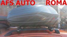 BOX AUTO PORTABAGAGLI G3 ALL-TIME 320 LT+BARRE PORTATUTTO FIAT PANDA 2010 C/RAIL