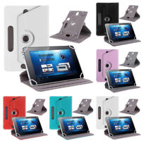 """New 360° Universal Folio Leather Flip Case Cover For Tablet PC 7"""" 8"""" 9"""" 10"""""""