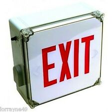 Orbit ESLN4-EB-RD Wet Location Led Exit Signs with batttery back up RED 120/277V
