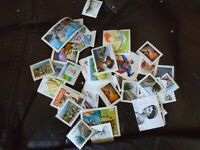 Lot of 500 p stamps uncancelled stamps face $460.00 No Gum