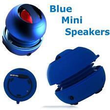 Blue Mini Travel Speaker Super Bass Portable For iPhone iPod Laptop Tablets