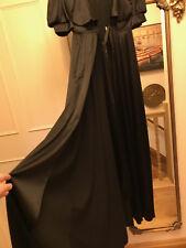 Vintage elegant Agent Provocateur black robe gown dress negligee size M