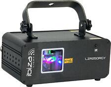 Ibiza LZR250RGY Laser DMX 250mW Rot Grün Gelb Show Lounge Bar Club DJ Party
