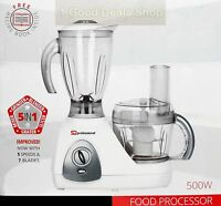 5 In 1 White BNIB Electric Multi Food Processor Smoothie Blender Grinder 500W