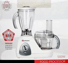 5 en 1 Multi Eléctrico Blanco Nuevo y en caja procesador de alimentos Smoothie BATIDORA PICADORA 500W