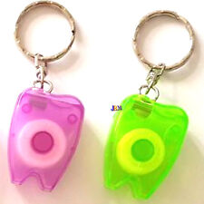 2x Dental Food Hygiene Clean Clear Tooth Floss With Mini Key Holder Chain