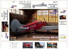 Dora Wings 48016 1:48th scale Percival Proctor Mk.III civil service 4 schemes