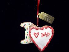 Christmas:  Gingerbread Cookie ~ I love Dad~ ORNAMENT Great Gift Tag for Dad NEW