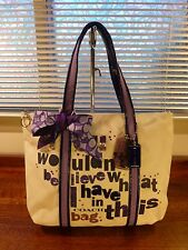 Set NWT Coach 14980 Poppy You Wouldn't Believe Signature Purple Tote & Scarf