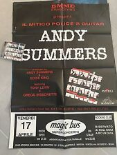 Andy Summers 100x67 Promo Poster Live Tour The Police cd No Incl 1997 Rare Italy