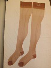 Vtg New Lane Bryant Sand Beige First Quality Pin Point Mesh Nylon Stockings 10.5