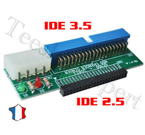 Adaptateur pour convertir IDE 2.5 (40pins) Vers IDE 3.5 (44 pin)HDD 2.5 to 3.5