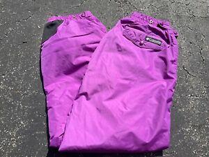 Vintage 90s Columbia Sportswear Purple Ski Pants Snowboard Womens L
