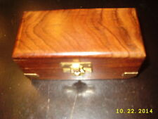 Pier one Brass Spyglass Telescope with Antique Finish & Nautical Wooden Box new