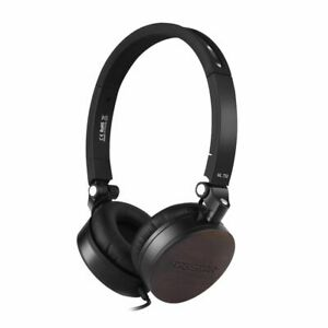 Sandalwood Over Ear Headphone Mic Noise Cancelling Wired Dynamic Headsets Case