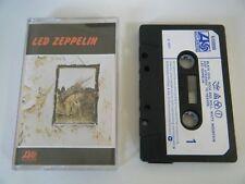 LED ZEPPELIN 4 IV SYMBOLS CASSETTE TAPE 1971 WHITE PAPER LABEL ATLANTIC UK