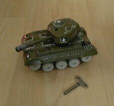 Vintage Tin Gama clockwork tank with key