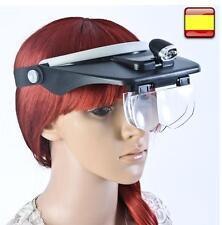 EMCEURO MP244L Set Gafas Lupas con 4 Lentes Intercambiables y Luz LED - Blancos