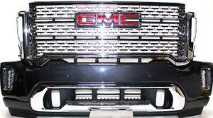 2020 2021 GMC SIERRA DENALI HD 2500 3500 BUMPER ASSEMBLY / DENALI GRILLE OEM GM