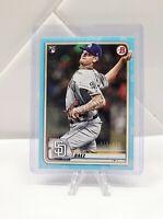 2020 Bowman Michael Baez Sky Blue Paper 348/499 Rookie Card Padres