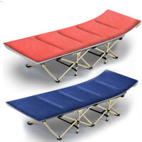 Portable Folding Bed Stable Camping Cot Outdoor Travel Sleeping+Mattress & Bag
