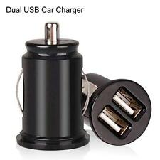 USB 2 Port Double Dual Mini Car Charger Adapter Power For Mobile Phone USA MT