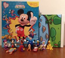DISNEY Mickey Mouse Clubhouse My Busy + 12 caratteri BOOK STATUETTE & Playmat