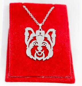 Halskette und Anhänger. Hund Schmuck Yorkshire Terrier. Edelstahl