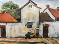 🔥 RARE Vietnamese Asian Chinese Modern Impressionist Oil Painting, Signed