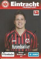 Pirmin Schwegler - Eintracht Frankfurt - Saison 2012/2013 - Autogrammkarte