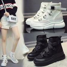 Womens High Wedge Sneakers High-top Platform Sport Trainers Loafes Shoes Boots