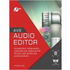 AVS Audio Editor 8.4 deutsche Vollversion lifetime Download 34,99 statt 58,99 !